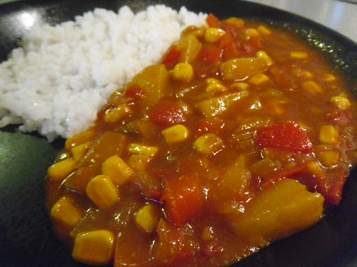Red Curry with pineapple close up
