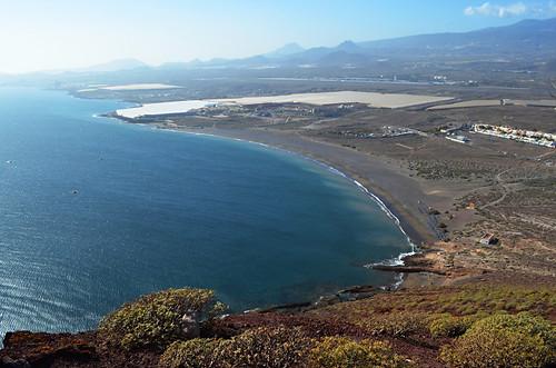 Playa de la Tejita from Montaña Roja, El Medano, Tenerife