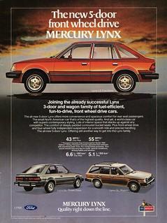 1982 Mercury Lynx LS & GL (Canadian Ad)