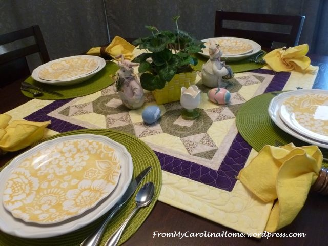 Easter tablescape - 1