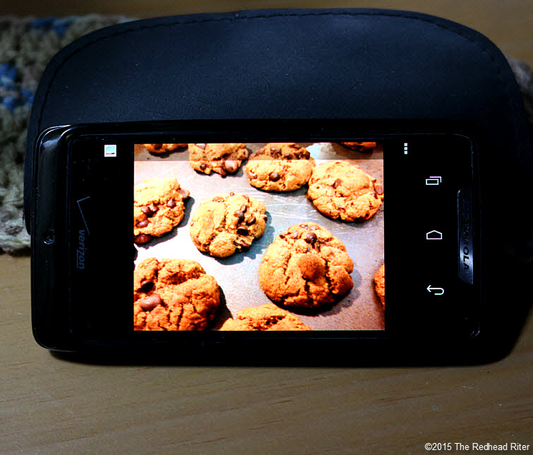 cell phone chocolate chip cookie Modern Technology Connects Across The Miles 1