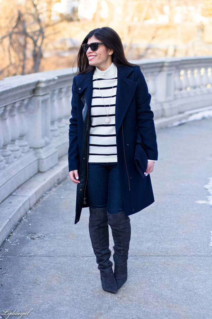 striped sweater, grey OTK boots, navy coat-1.jpg