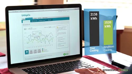Opower和電力公司合作,提供客製化的家庭能源報告。(圖片來源:影片截圖)
