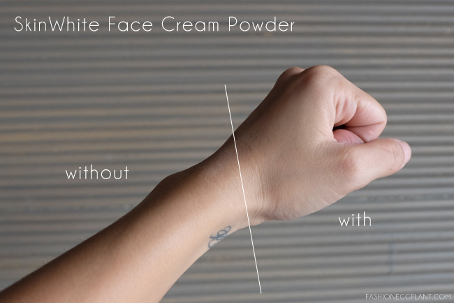 skinwhite face cream powder review
