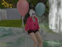 "Free gift at Fameshed : Blueberry ""Floatie"" pose, Fishy Strawberry ""Fly Glasses"", Miss Chelsea ""Buttonned Short"" @http://maps.secondlife.com/secondlife/FaMESHed/122/119/2499; Hair By Moon, GG ""BOA"""