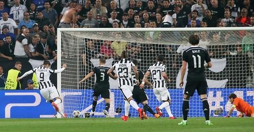 Juventus 1-1 Real Madrid en el primer tiempo de la Champions