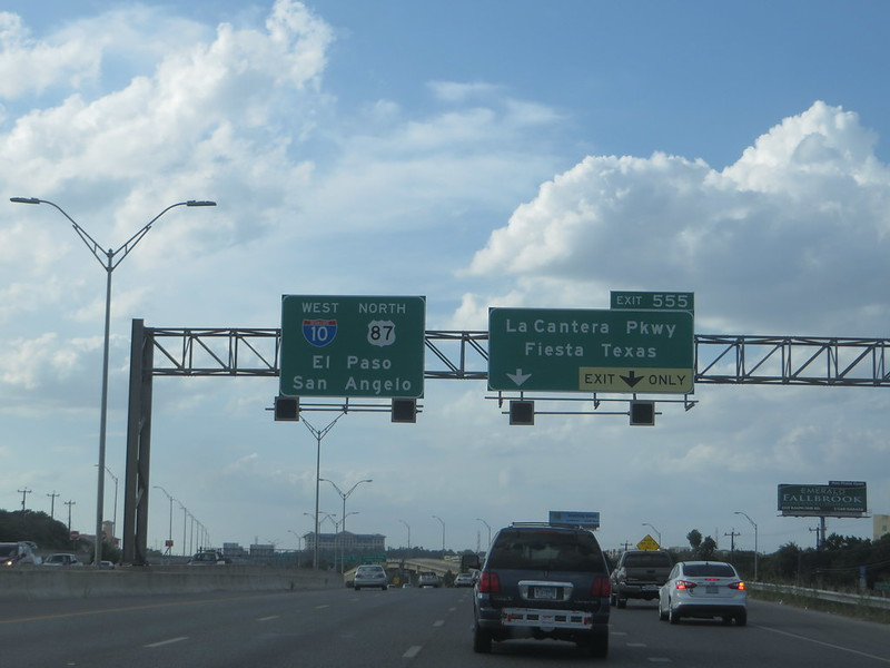 Leaving San Antonio on Interstate 10