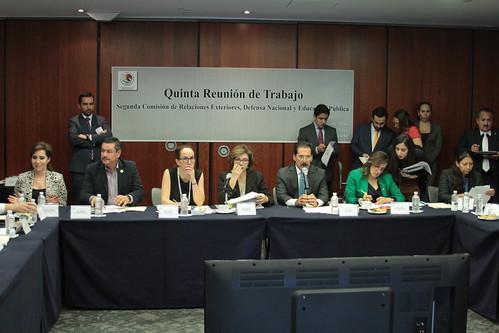 El día 12 de julio del 2016 se llevó a cabo en el Senado de la República la quinta reunión de la Segunda Comisión de Relaciones Exteriores; Defensa Nacional y Educación Pública.