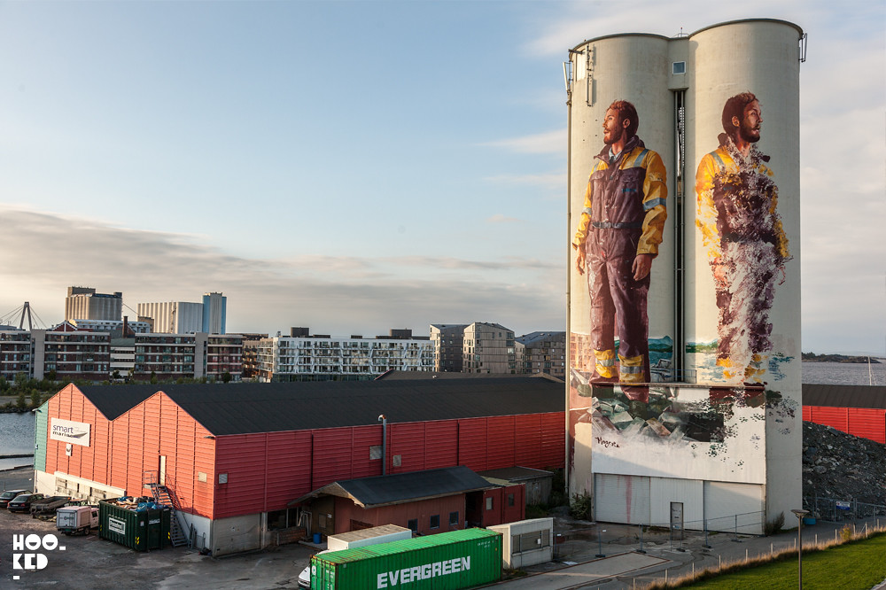FIntan Magee, Silo Murals in Stavanger, Norway. Photo ©Mark Rigney / Hookedblog