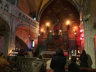 Capilla de la Virgen negra (Rocamadour, Francia)