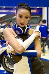 Sexy presenter for Yamaha motorbikes at the 36th Bangkok International Motor Show