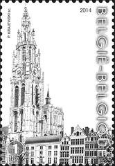 16 Markt Van Antwerpen timbre b