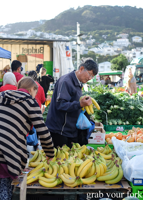 Morning shoppers at Harbourside Market, Wellington