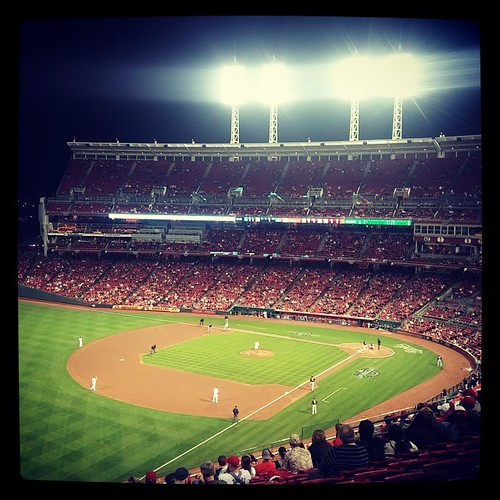 Playing ball on #Reds #OpeningNight... finally.