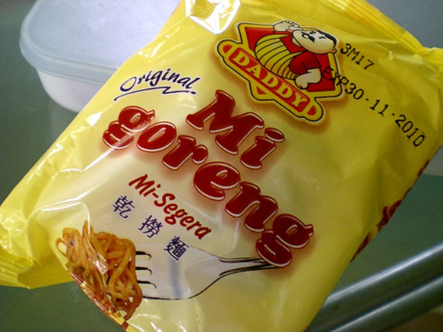 Mi goreng old packaging