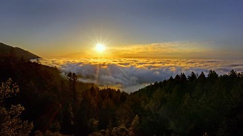 Sunrise from Mt. Tamalpais - April 18, 2015