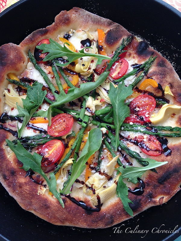 Spring Skillet Pizza Pie