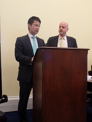 Hidehiko Yuzaki, Governor, Hiroshima Prefecture, Japan and Dad Bob, Director of Programs, Sasakawa Peace Foundation-USA
