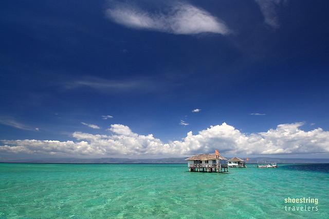 blue sky over Manjuyod Sandbar, Bais, Negros Oriental