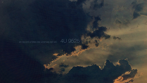 In remembrance of the victims in All Flight 4U9525