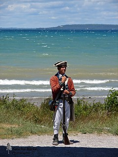 Soldier in Fort Mackinac