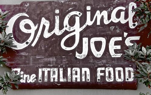 Original Joe's Original Sign