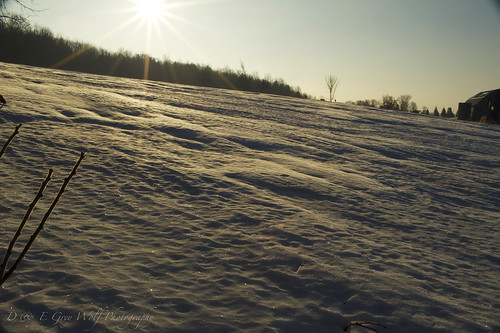 snow field sunrise landscape spring