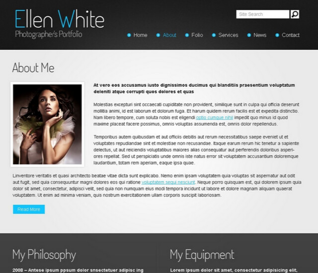 Free Website Template - Photographer's Portfolio