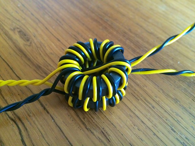 1:4 Dual Core Current Balun Winding