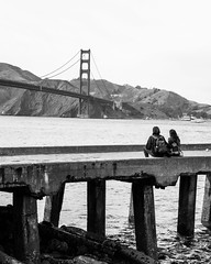 Couple at the Golden Gate Bridge