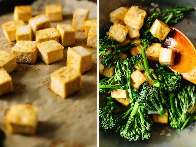 Thai peanut stir fry with tofu + broccolini | Oh, Ladycakes