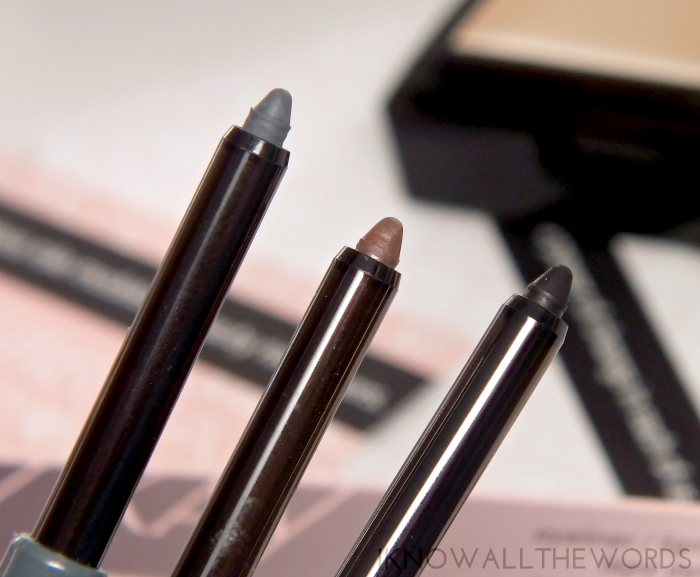 mary kay eyeliner swatches steely, deep brown, black (4)