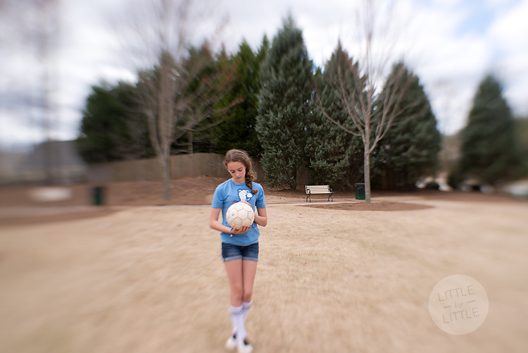 G with soccer ball