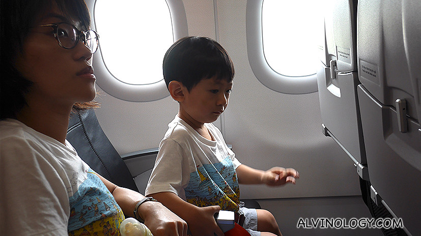 Rachel and Asher on board Vietjet Air flight to HCMC