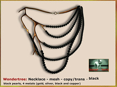 Bliensen - Wondertree - necklace - black Kopie