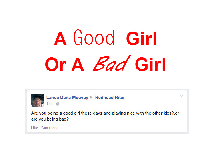 facebook comment good girl bad girl question title