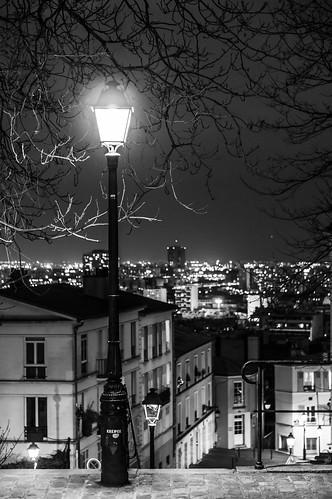 Un lampadaire, Montmartre