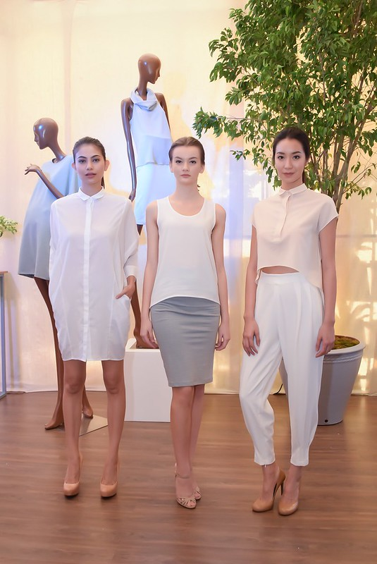 Staying true to the brand's three key elements of neutral palette, loose, minimalist silhouettes and light, diaphanous fabrics