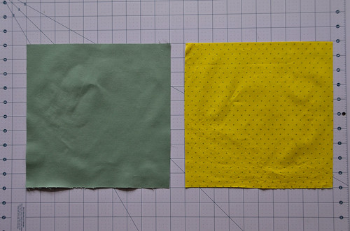 1. Cut Two Squares ((finishedSize+1)*2)