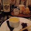 Chicken liver pate and Chateau Lyonnat 2008 at the Bistro Stanbrook Abbey