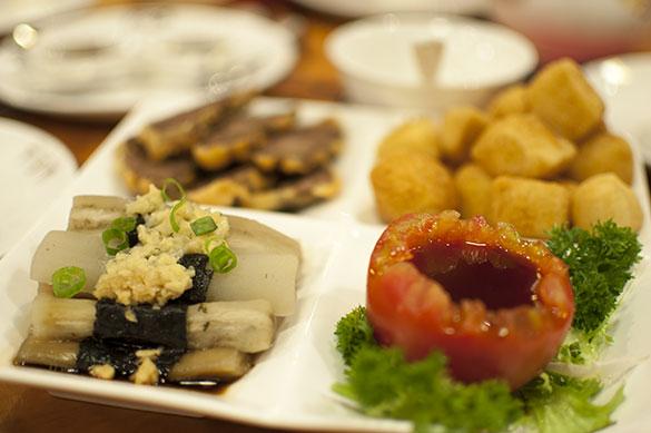 古法小食三味 前菜三種盛り
