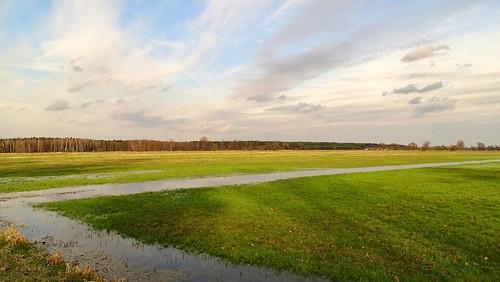 sky green nature grass river landscape spring view meadows poland polska ner lodzkie łódzkie