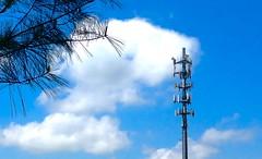 tower, sky, antenna,