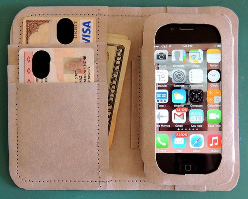 Cell Phone Wallet - Inside
