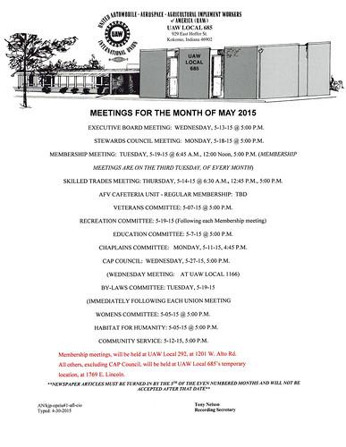 May Meetings