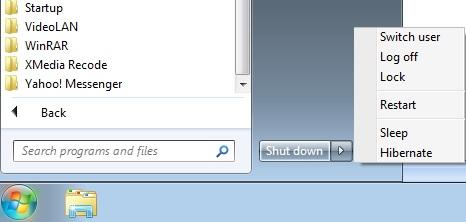 computer shutdown and restart