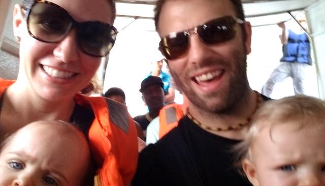 Family selfie on Panama Ferry