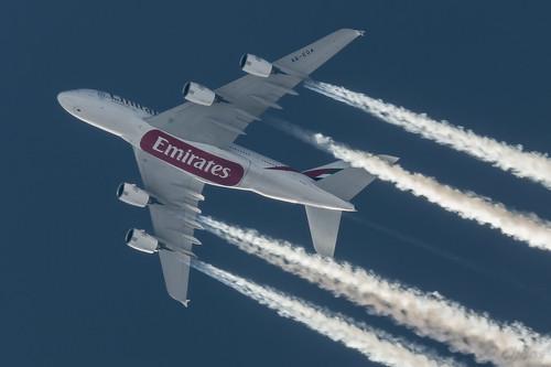 A6-EOA Emirates Airbus A380-861