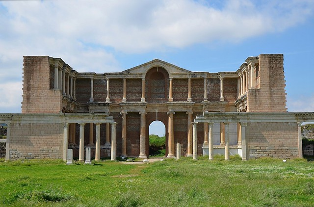The Bath-Gymnasium complex at Sardis, probably completed in the late 2nd - early 3rd century AD, Sardis, Turkey