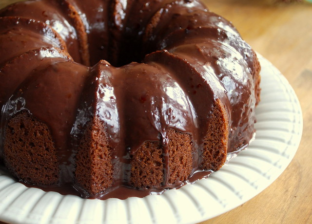 Chocolate Bundt with Peanut Butter